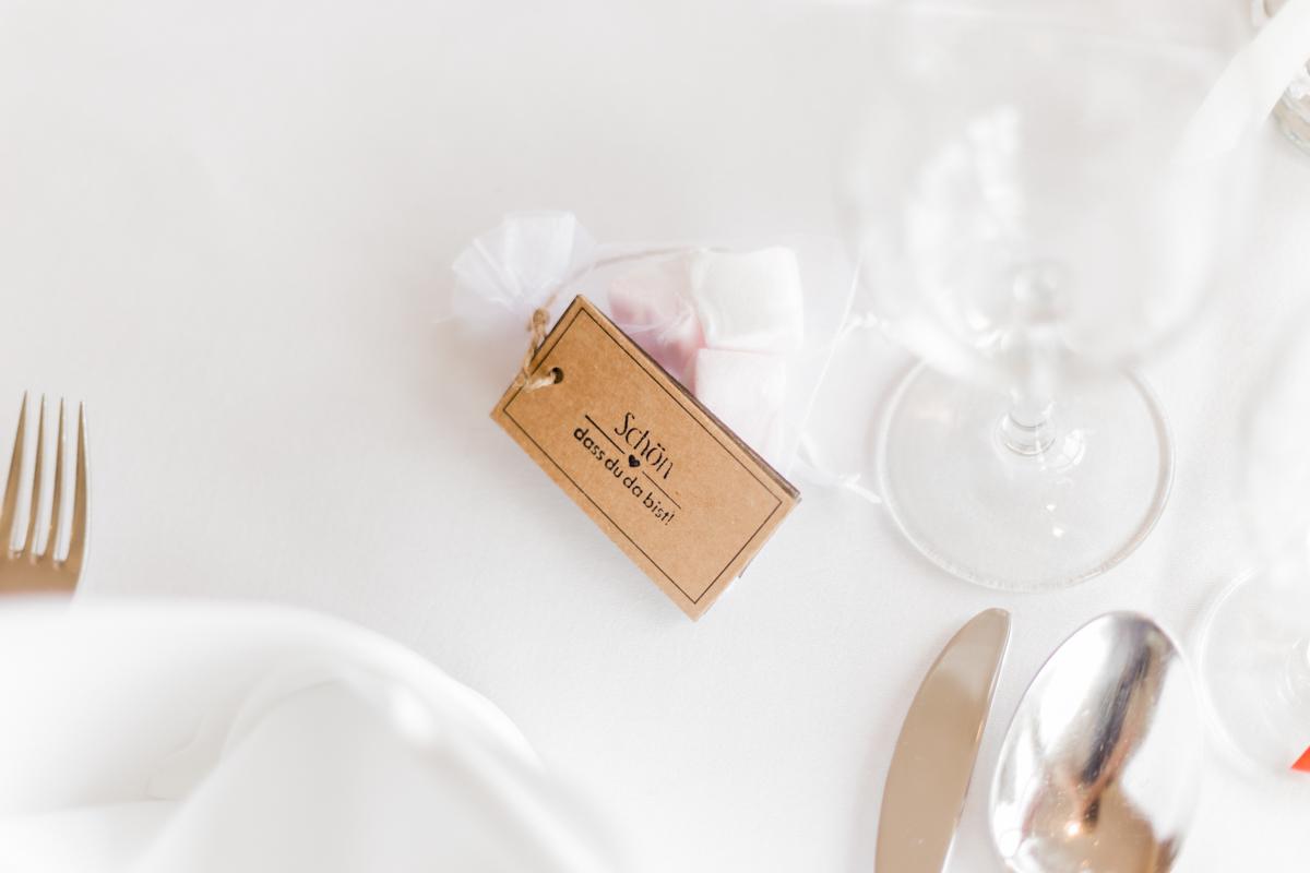 Tischdeko einer Hochzeit in Olpe