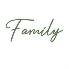 Schriftzug Family für Website Hochzeitsfotograf Osnabrück